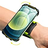 VUP Wristband Phone Holder, 360° Rotatable Forearm Armband for iPhone 12/12 Pro/12 Mini/SE 2020/11/11 Pro/Xs/XR/X/8/7/Plus, Fits All 4-6.7 Inch Smartphones, Great for Hiking Biking Running (Green)