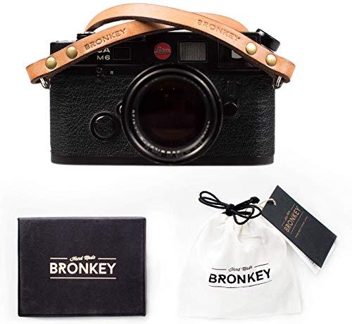Bronkey Berlin 103 (120cm) - Correa Camara Cuello Vintage Retro cámara Compacta Piel Cuero Original Reflex DSLR SLR