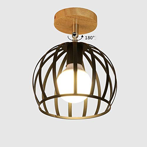 Wandlamp in Japanse stijl voor hal, trappen, garderobe, balkon, spiegel in Noord-Europa voor het verbinden van hal Daysnauy dak, hout, ijzer