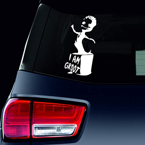 SUPERSTICKI I am Groot bloempot Guardians of The Galaxy ca 15 cm tuning autosticker sticker sticker decal van high-performance folie sticker autosticker tuningsticker renna
