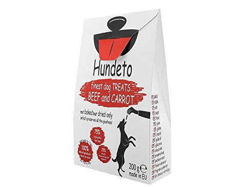 Hundeto Biscotti di Alta qualità per Cani Cuccioli - Manzo e Carota - Nessuna Sciocchezza Artificiale - 200g