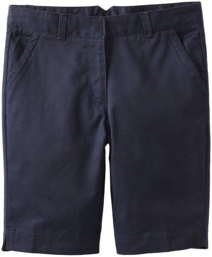 Dockers Big Girls'  Plus-Size Twill Bermuda Short, Navy, 16.5