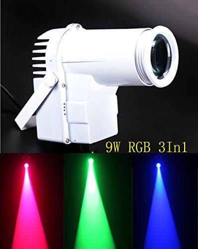 Led Pinspot, 9W Full Color 3IN1 RGB Spot de luz LED, Cambio