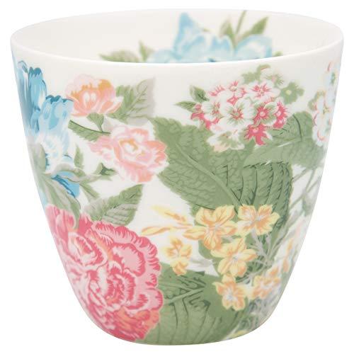 GreenGate - Becher, Tasse, Kaffeetasse, Latte Cup - Adele - weiß - Höhe 9 cm