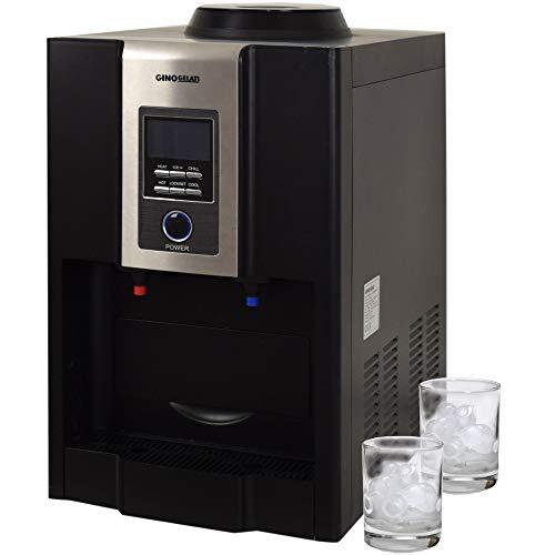 Gino Gelati GG-500W Digitaler Eiswürfelbereiter,(mit Heiß- und Kaltwasserfunktion, LCD Display)
