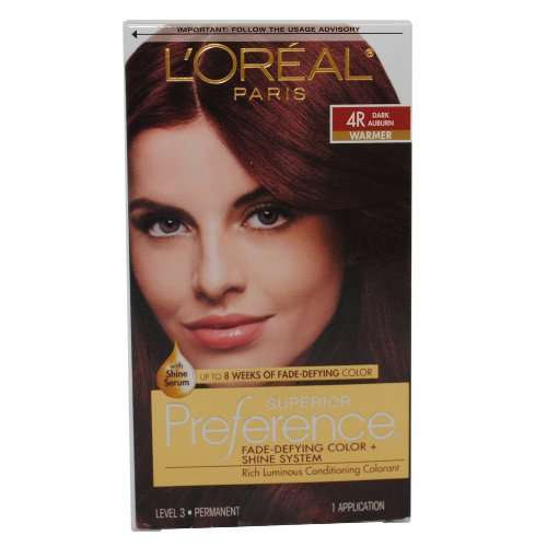 Loreal Superior Preference - 4r Dark Auburn, (Pack of 3)