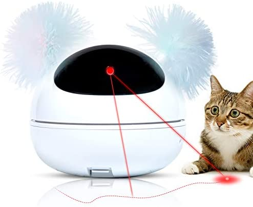Q Hillstar Automatic Laser Cat Toy Interactive Smart Kitten Laser Toy for Indoor Cats 360 Auto product image