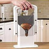 Tostadora de cocina rebanadora de pan Commerica Pan Sandwich Slicer Cortador de pan Máquina tostadora rebanadora de pan rebanadora de manera uniforme herramienta de corte auxiliar horno tostador