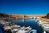 HEE WAG Paisaje Urbano Croacia Panorama Barco océano Pintura por números DIY único