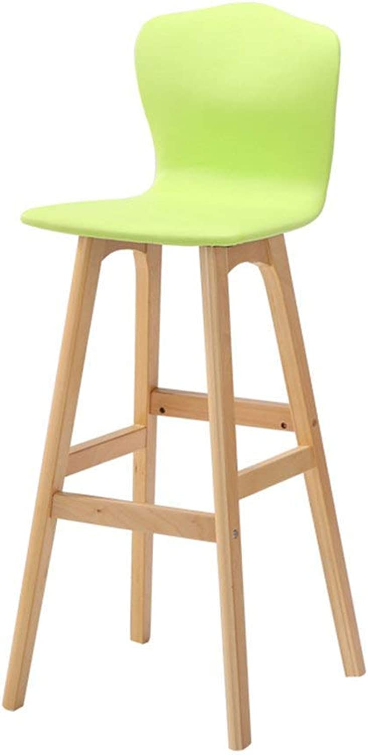 YZH Nordic Personality bar Chair, Chairs Stools, High Solid Wood Back Bar Chair,High End Atmosphere Chair Stool