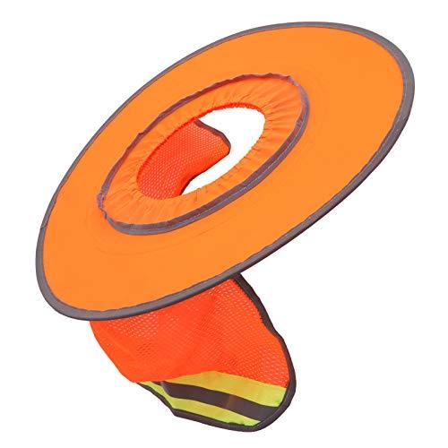 Jingyig Casco Protector Solar, Color Naranja, Transpirable, portátil, Sombrero de Seguridad, Parasol de algodón, Suave para protección Laboral, protección Solar