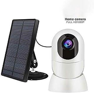 Cámara al Aire Libre Solar de Seguridad WiFi de la cámara 1080P HD Solar y batería Recargable de Seguridad activada por Movimiento de Empuje de la visión Nocturna PIR Sensor de Alerta