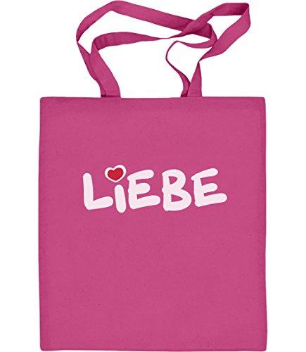 Shirtgeil Liebe - Valentinstag Romantische Geschenkidee Jutebeutel Baumwolltasche One Size Rosa