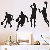 JJYGONG Creative Basketball Player Etiqueta Removible Etiqueta de Pared Muro Decoración para el Hogar Fotomural Art Pegatina Arte Murales Decoración Portátil