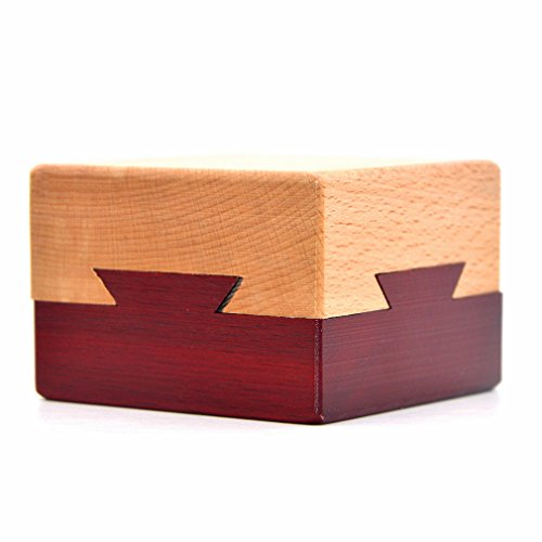 Hölzerne geheime Öffnung Rätsel Box geheimnisvolle Box Geschenk-Box für Kinder und Erwachsene
