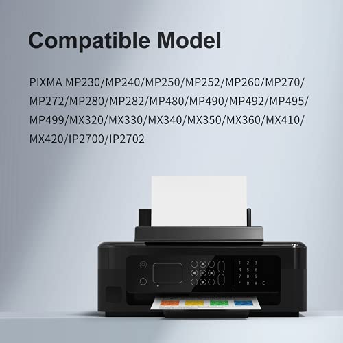 KNOWINK PG-512 CL-513 Cartucho de tinta compatible con Canon PG-512 CL-513 para Canon Pixma iP2700 MP250 MX350 MP280 270 230 240 235 490 260 282 MX320 340 330 (1x Negro, 1x Color)