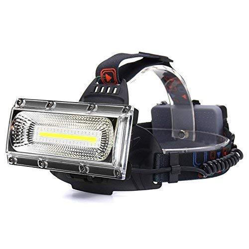 LEDヘッドライト USB 充電式 強力 ハイパワー COB 2000ルーメン ヘッドランプ 防水 2照明モード+レッド/ブルー・ストローブ、120°の広角照明 高輝度 広範囲 防塵 作業灯 登山 照明 ランニング 夜釣り キャンプ ヘルメットライト ラン