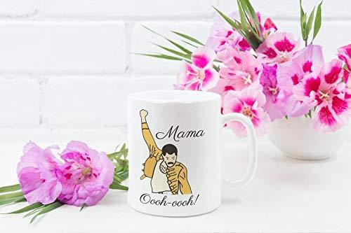 Mama Funny Coffee Mug - Mama Oooh Oooh, Funny Mothers Day Gift, Grandmother Grandma Mug, Bohemian Rhapsody, Queen And Freddie Fan Gift Ideas