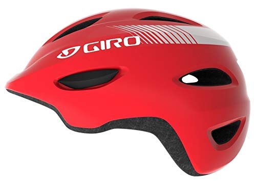 Giro Unisex Jugend Scamp Fahrradhelm Youth, Bright red, S (49-53cm)
