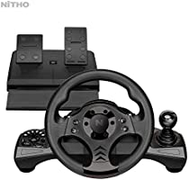 Nitho Drive Pro V16 Racing Wheel & Pedal Set MLT-DP16-K, Compatible with PC/PS3/PS4/Xbox1/Switch