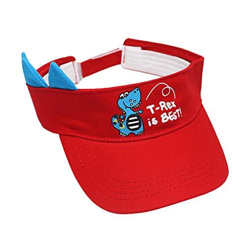 TWIFER Sombrero de Gorra de Beisbol para niñas Sombreros de Sol para niños Sombreros de Playa con patrón de Dinosaurio Lindo Verano Bebé Algodón Sunhat Eaves Anti UV