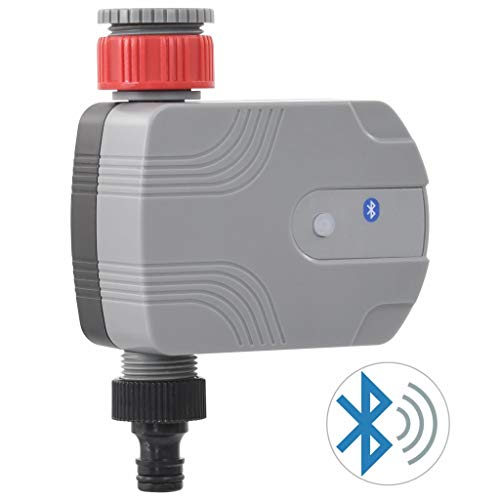 vidaXL Garten Bewässerungstimer mit Bluetooth Wasserzeitschaltuhr Wasseruhr Wasser Zeitschaltuhr Garten Bewässerungsuhr Bewässerung Uhr Timer