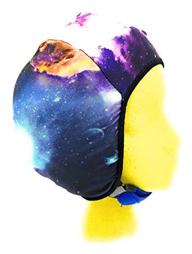Wrestling Hair Cap - Over The Headgear Style - Multicolored Galaxy (Black Trim)