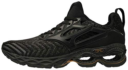 Mizuno Men's Creation WAVEKNIT 2 Running Shoe, Dark Shadow - Black, 10.5 D