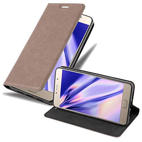 Cadorabo Hülle für Lenovo P2 - Hülle in Kaffee BRAUN – Handyhülle mit Magnetverschluss, Standfunktion & Kartenfach - Case Cover Schutzhülle Etui Tasche Book Klapp Style