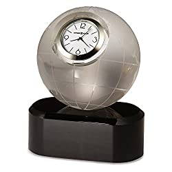 Axis Etched Globe Optical Crystal Table Clock