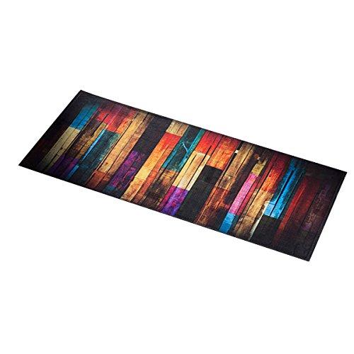 Ounona passatoia da cucina antiscivolo, zerbino, tappetino per il bagno, da pavimento, 40x 100cm (in legno colorato)