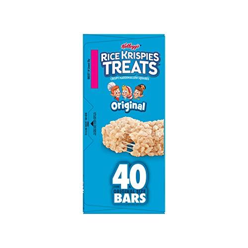 Kellogg's, Rice Krispies Treats, Crispy Marshmallow Squares, Original, Single Serve, 0.78 Oz Bars, 40 Ct