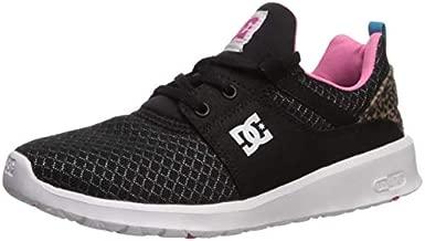 DC Women's Heathrow TX SE Skate Shoe, Black/Pink/Black, 5 M US