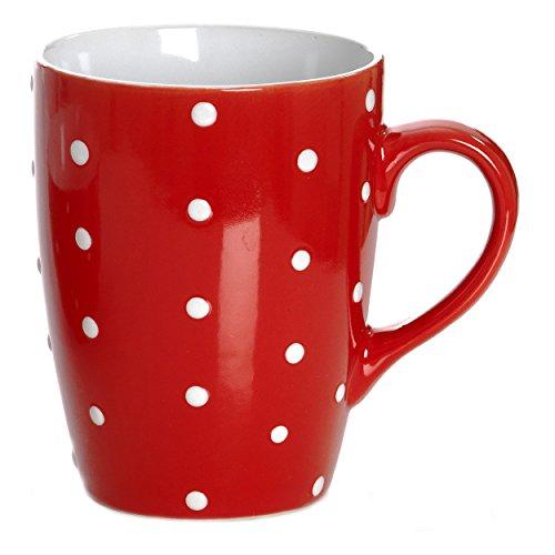 Ritzenhoff & Breker Pinto Kaffeebecher, Tasse, Kaffeebecher, Teetasse, Keramik, Rot, 739060