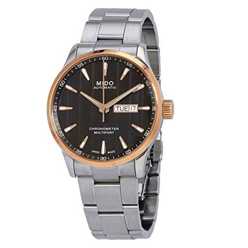 Mido Multifort cronómetro automático reloj de hombre con esfera negra M038.431.21.061.00