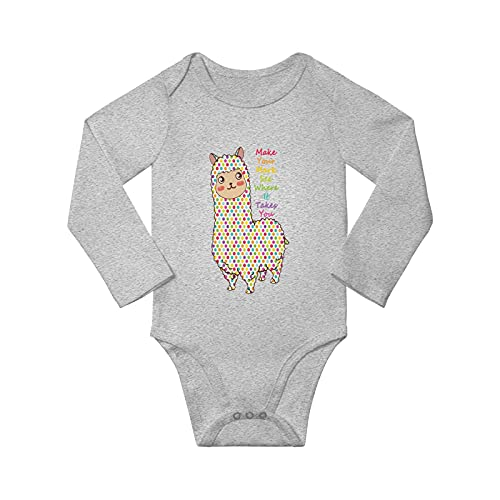 Make Your Mark Dot Day Llama Unisex Baby Long Sleeve Bodysuit
