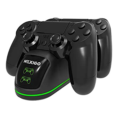 2020 PS4 Controller Charger, NexiGo Wireless Charger Dual USB Fast Charging Station Dock with LED Indicators, for Sony Playstation 4 / PS4 / PS4 Slim / PS4 Pro Controller