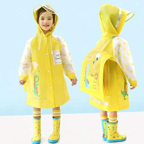 YAOUFBZ Grundschüler,Kinder,Regenmäntel,Jungen,Regenbekleidung,Kindergarten,Mädchen,Poncho,Regenmantel mit Schultasche