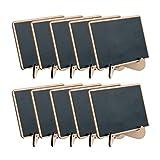 ULTNICE Tarjetas de mesa de madera, mini pizarra, tarjetas para nombre, boda, decoración de mesa, 10 unidades