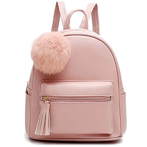 I IHAYNER Rucksack Damen Rucksäcke für Frauen PU Leder handtaschen Schultaschen Kleine wasserdichte niedlich Schultasche