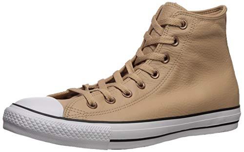 Converse Men's Chuck Taylor All Star Leather Sneaker, Champagne Tan/White/Black, 5.5 M US