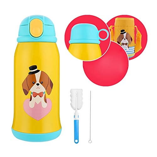 Lowest Prices! Oncefirst Kids Water Bottle Vacuum Insulated Stainless Steel Sippy Cup Flask with Two...