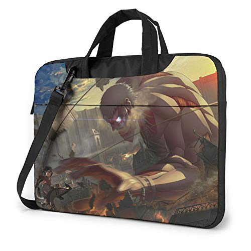 Anime Attack on Titan Laptop Sleeve Bag Messenger Bag Ultra Portable Protective Shoulder Tablet Notebook Computer Carrying Case For15.6 inch