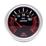 Dhmm123 Digital Auto Auto Öldruckanzeige 0~100 PSI 2'52mm Universal Weiße Rauch Len 12 V Ölpresse Meter Spezifisch