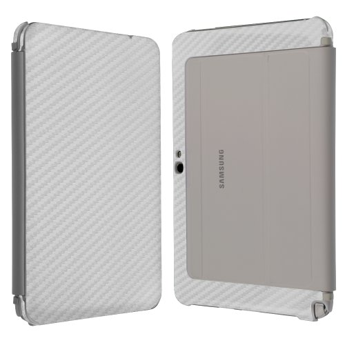 %7 OFF! Skinomi Silver Carbon Fiber Full Body Skin Compatible with Samsung ATIV Tab 3 (Tablet and Ke...