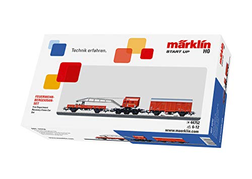 Märklin Start up 44752 - Feuerwehr-Bergekran-Set, Spur  H0