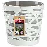 KADAX Macetero redondo de plástico, maceta para flores, plantas, balcón, para interiores, ligero, moderno (15 cm, gris)