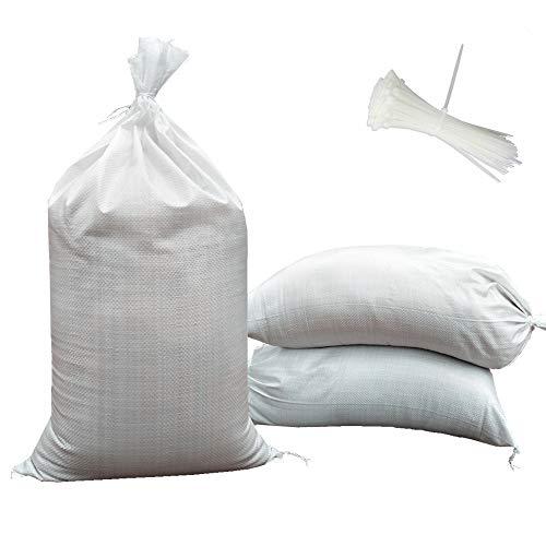 SHOUTINN Empty Sand Bags - with Solid Ties, UV Protection Sandbags,14