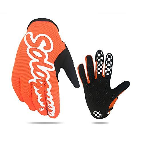 SOLO QUEEN Simracing Handschuhe für Simulator Lenkrad Spiele und Rennrad MTB Fahrrad Handschuhe (Orange, M)