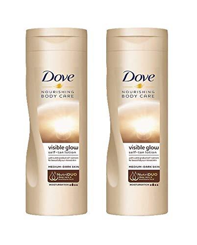 Dove Summer Glow - Loción de cuerpo autobronceadora, de color claro a...
